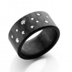 C6 by Anne Cohen Ladies Stardust 10mm Diamond Ring C6ST-10-26-55