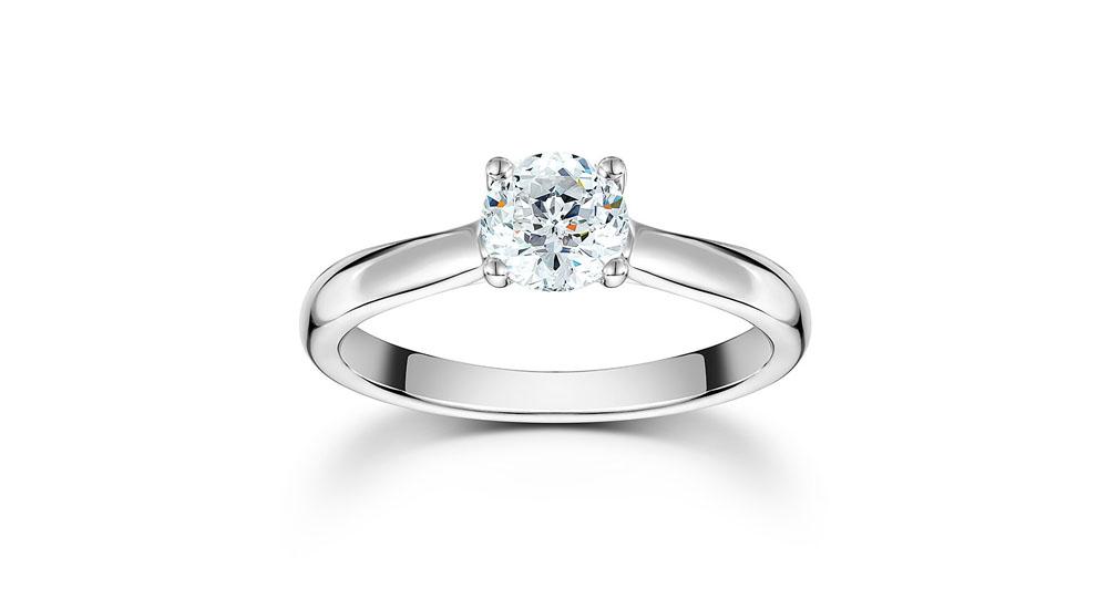 Mastercut Starlight 18ct White Gold 0.25ct Solitaire Diamond Ring