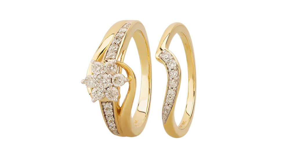 9ct Gold Diamond Bridal Set