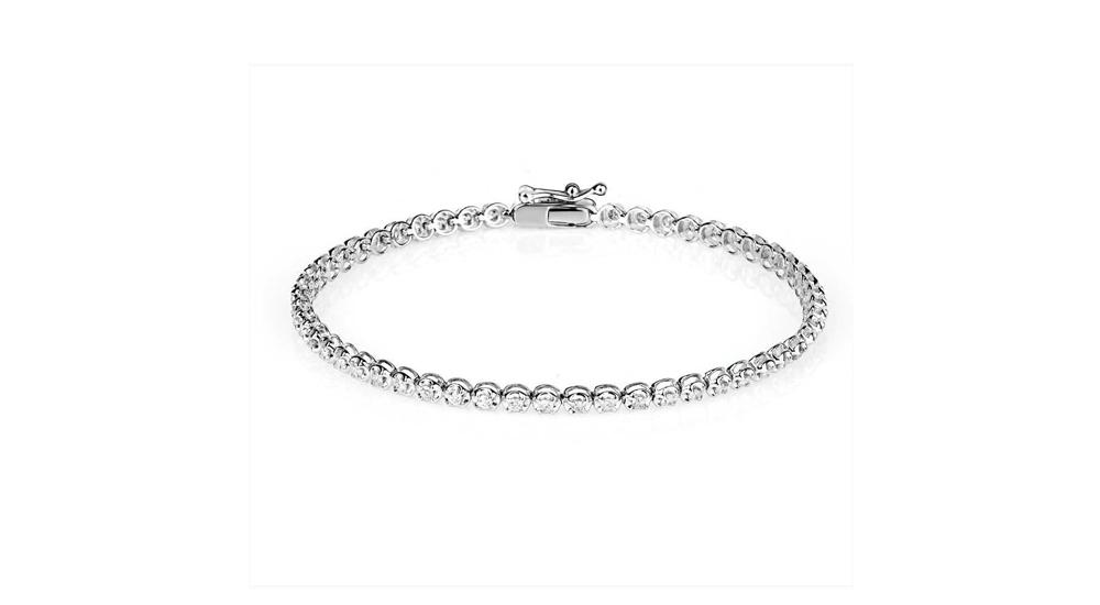 9ct White Gold Diamond Tennis Bracelet