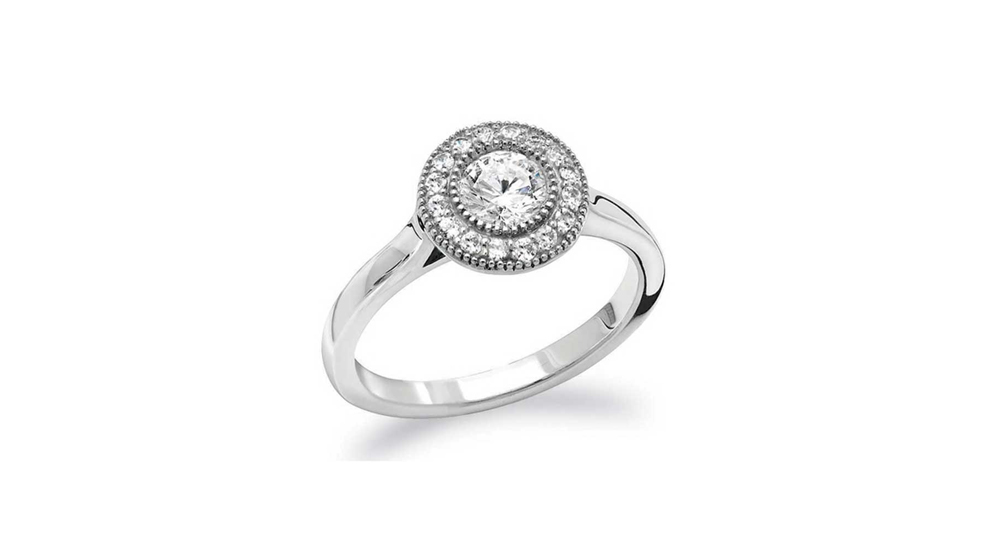 Mastercut Vintage 18ct White Gold Diamond Cluster Ring