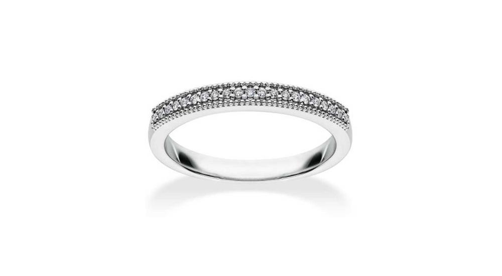 Mastercut Vintage 18ct White Gold Diamond Half Eternity Ring
