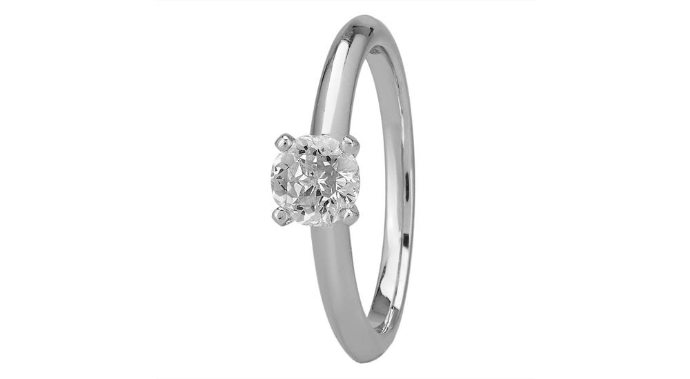 Mastercut Simplicity Four Claw Platinum 0.50ct Solitaire Engagement Ring