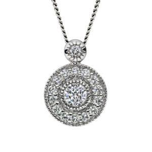 Mastercut Vintage Platinum Diamond Cluster Pendant
