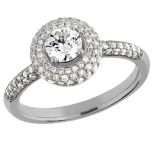 Arctic Circle Diamonds 18ct White Gold Round Brilliant Diamond Cluster Ring